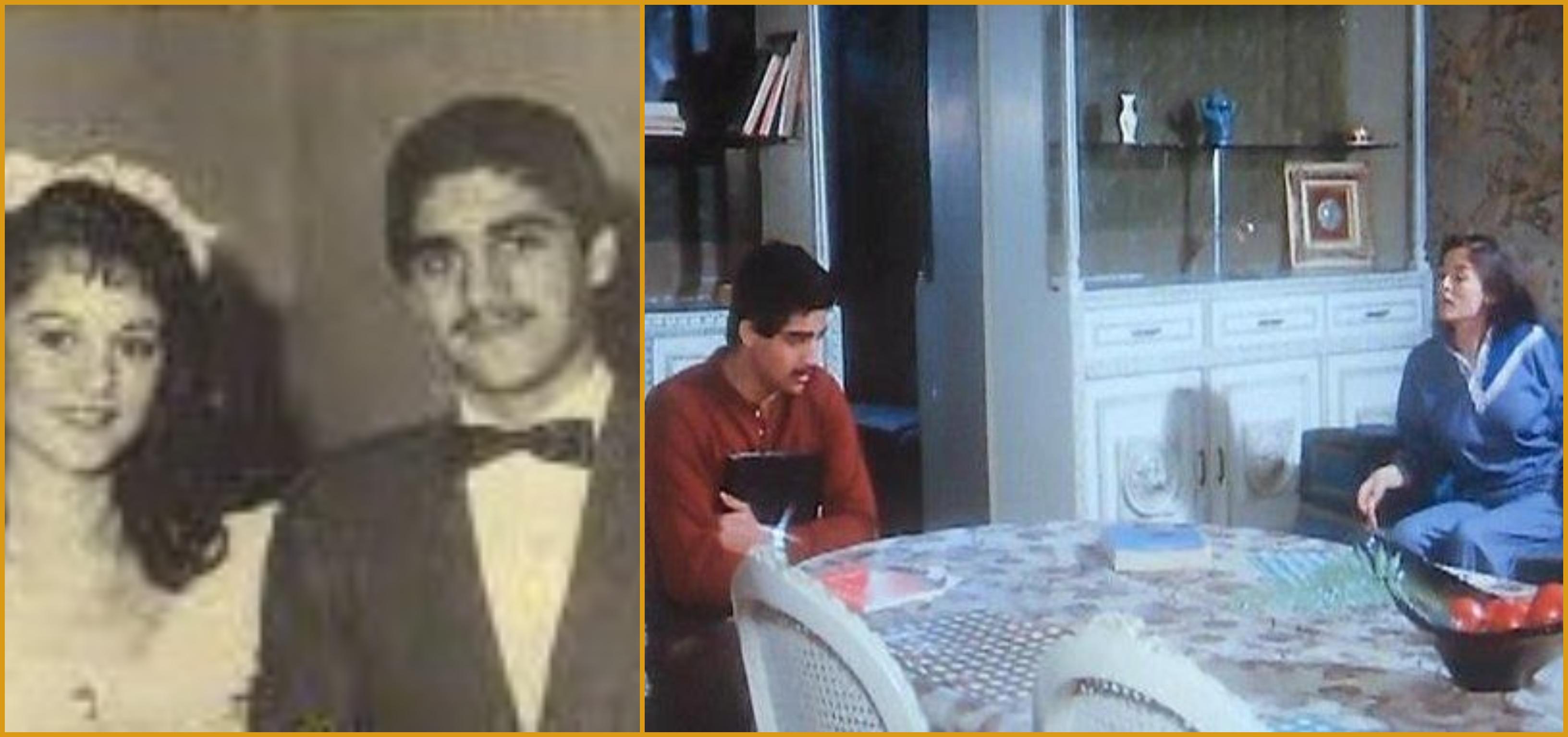 صورة من زفافه علي علا رامي وأخري من فيلم شاركها بطولته