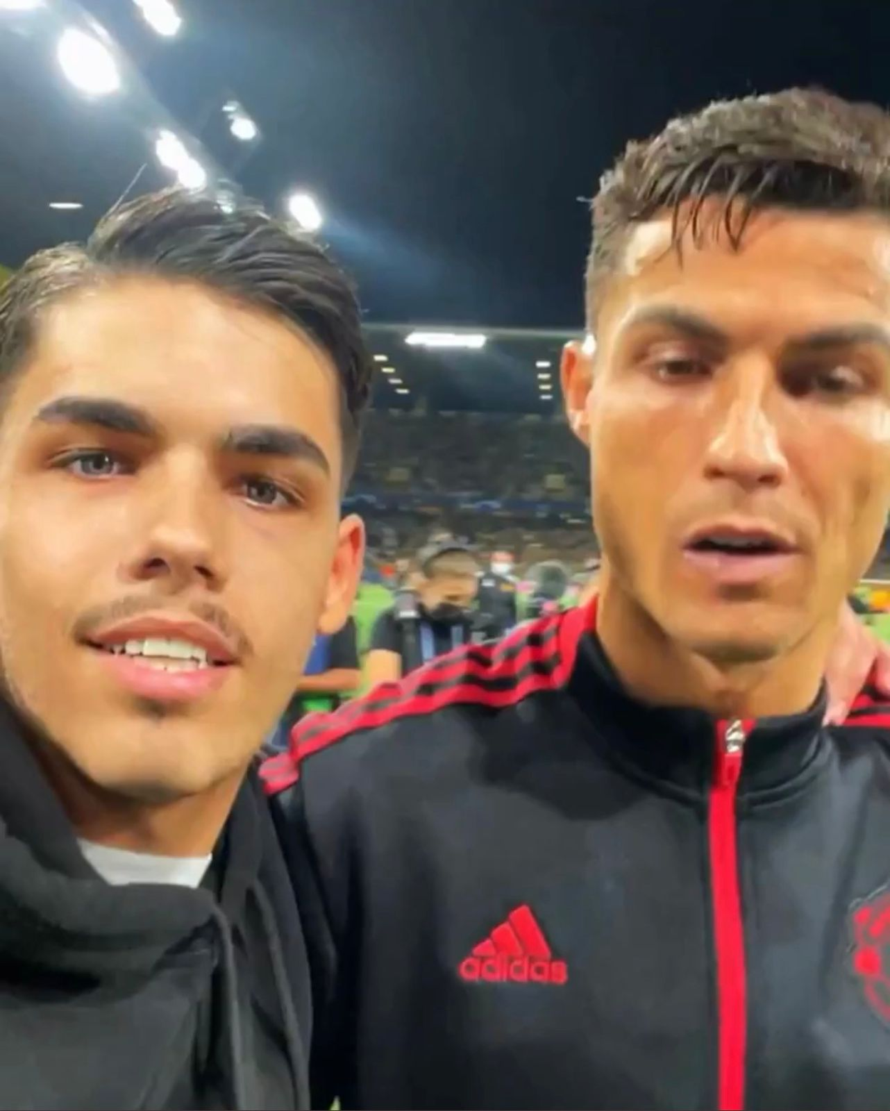 The fan with Ronaldo