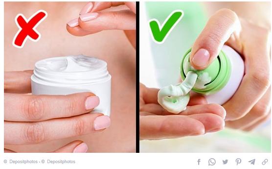 Creams in jars