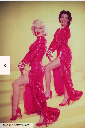 Jane Russell and Marilyn Monroe shoes
