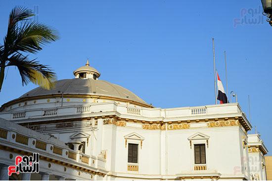 مجلس النواب ينكس العلم (1)