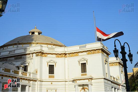 مجلس النواب ينكس العلم (3)