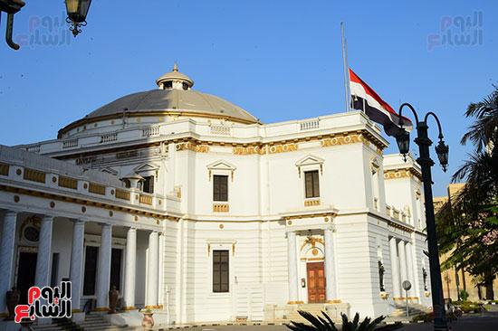 مجلس النواب ينكس العلم (4)