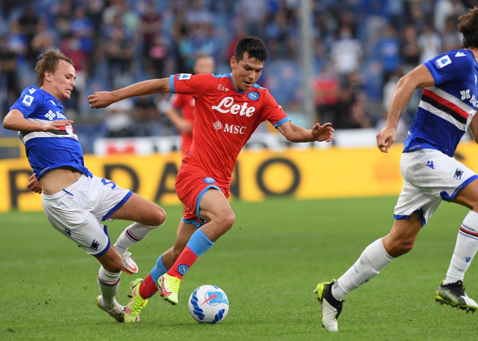 Napoli vs Sampdoria match