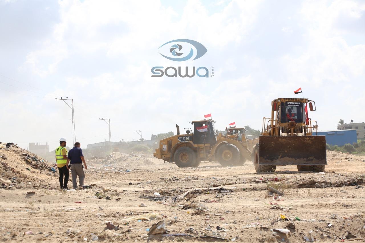الآليات المصرية تعمل في شمال غزة