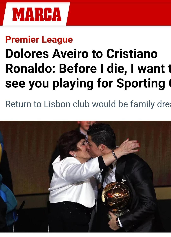 Ronaldo news from Marca newspaper