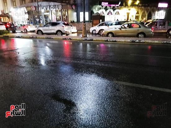 آثار سقوط الأمطار