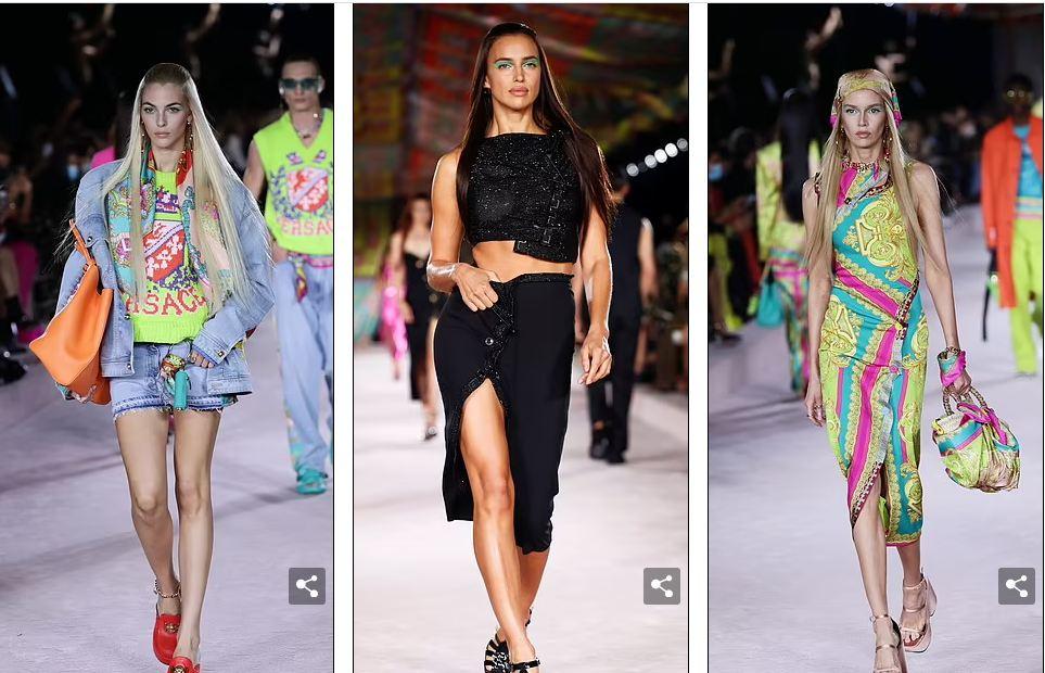Part of the fashion show at Milan Fashion Week