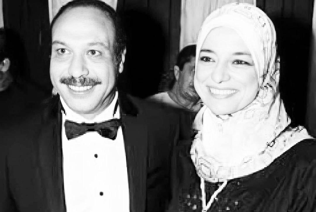 خالد صالح وزوجته
