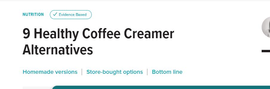 coffee whitener