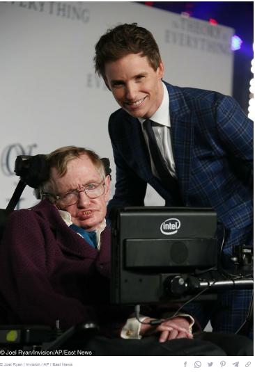 Eddie Redming and Stephen Hawking