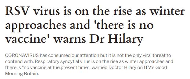 Respiratory syncytial virus warnings