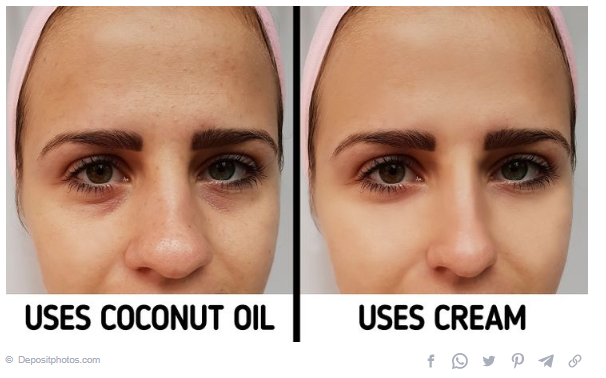Coconut on the skin