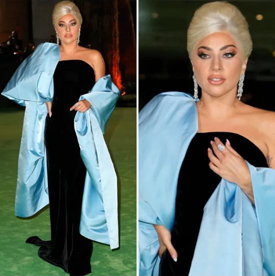 Lady Gaga in a charming classic look by Italian Elsa Schiaparelli
