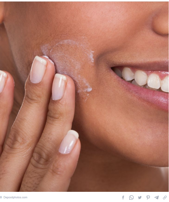 Use body lotion for the face