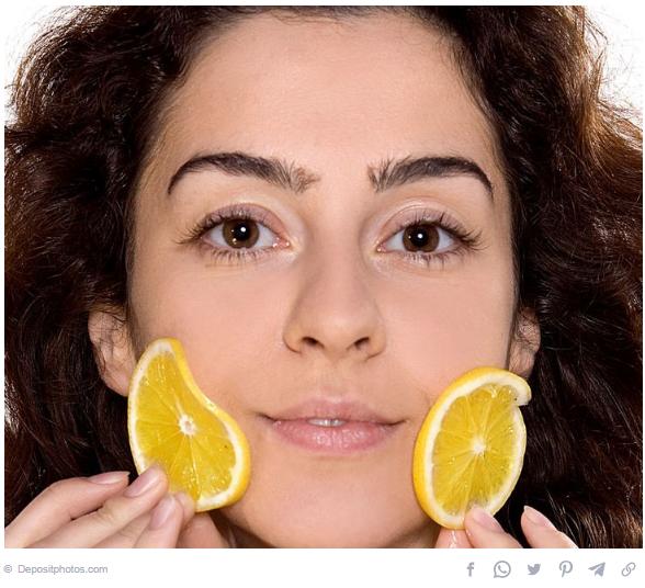 Lemon for skin lightening