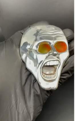 The game in the form of a face