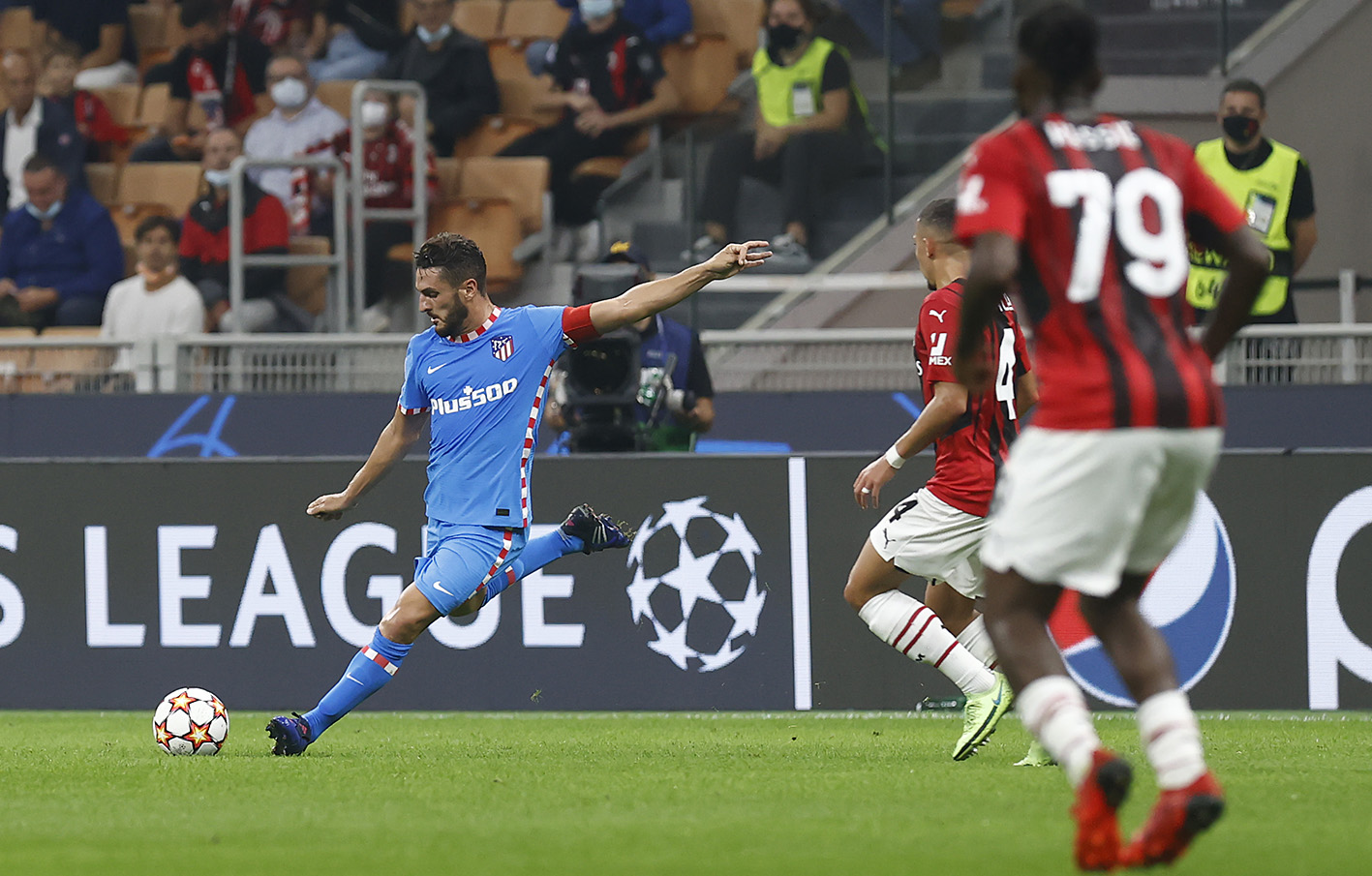 Milan vs Atletico Madrid in the Champions League