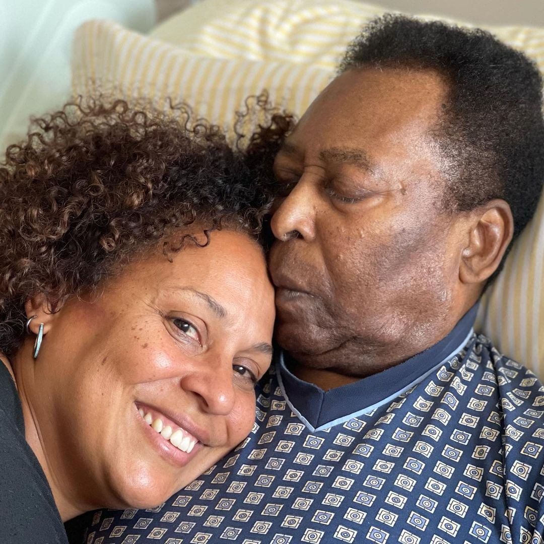 Pele and his daughter