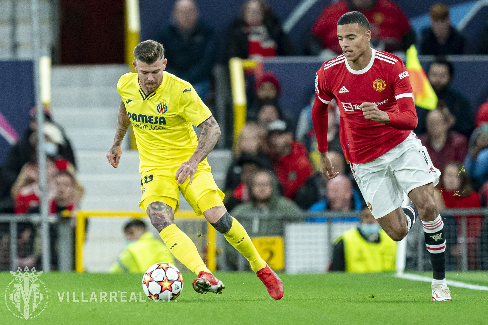 Man United vs Villarreal in the Champions League