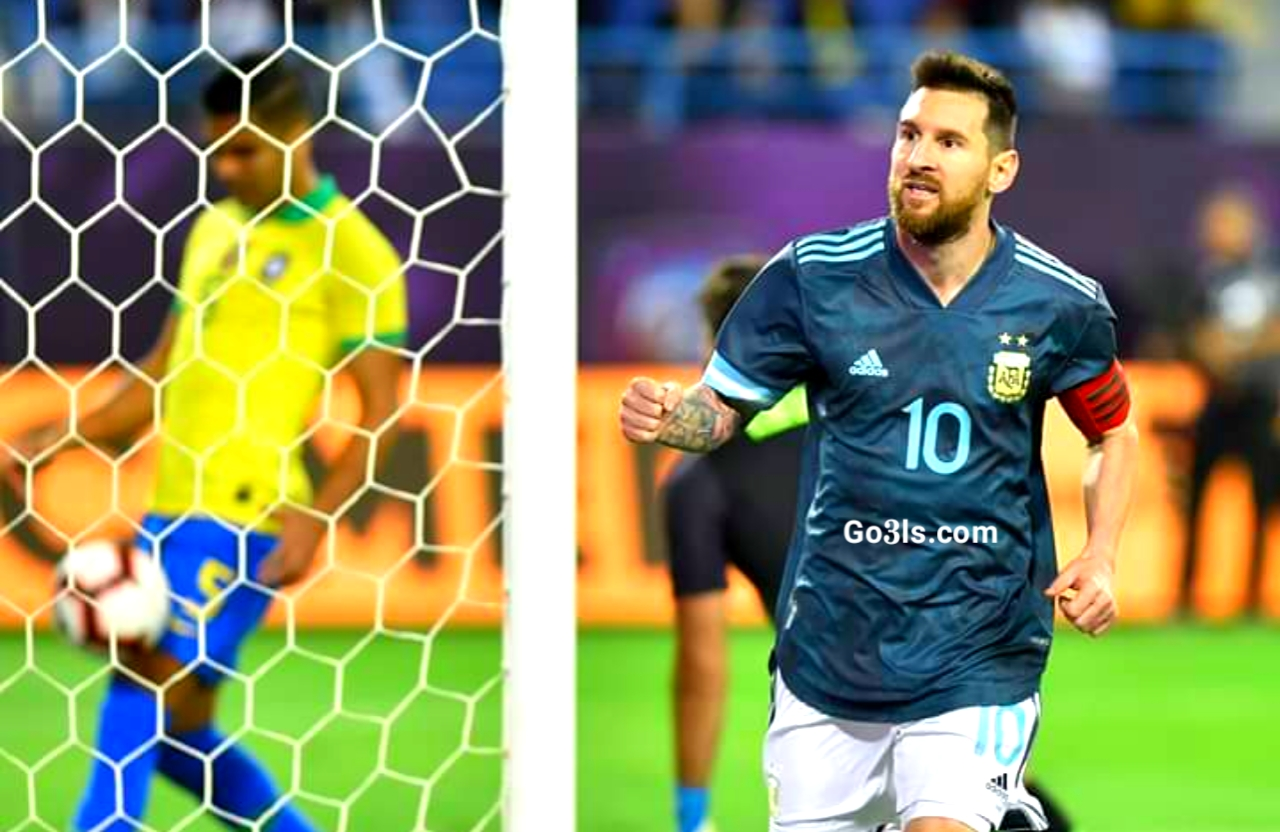 لوينيل ميسى فى مباراة الارجنتين والبرازيل