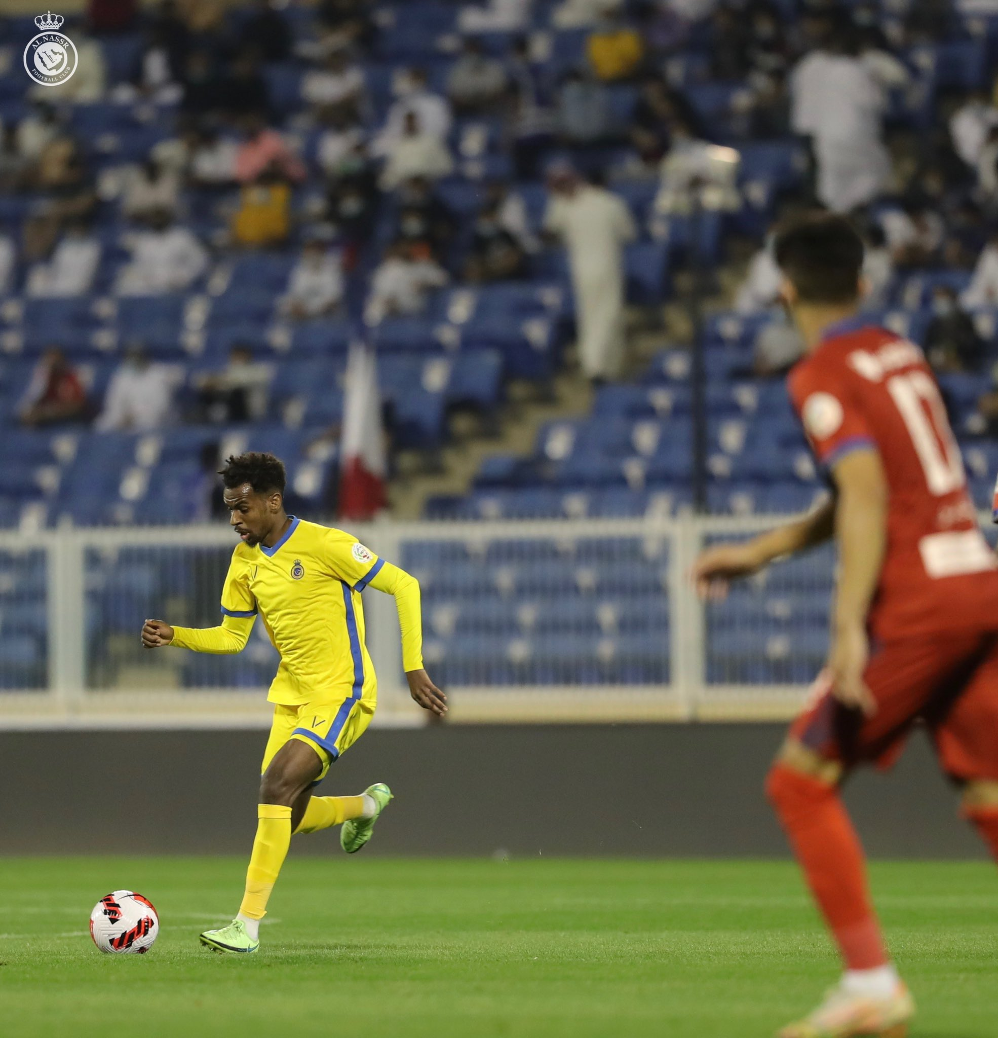 Nadia in the victory match against Abha