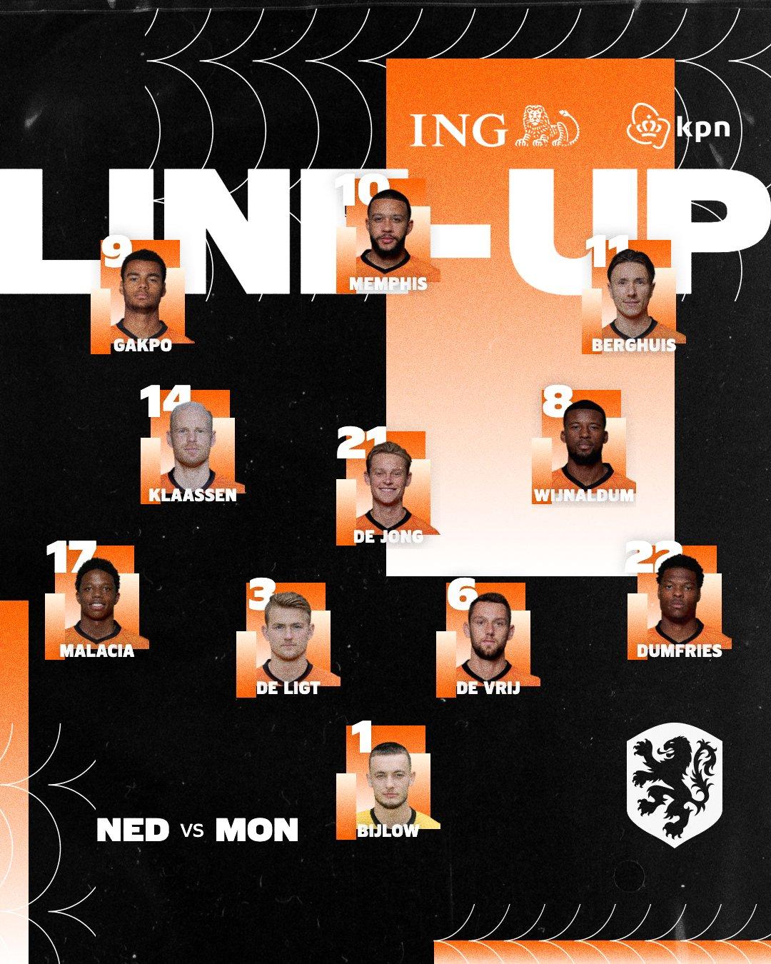 Netherlands national team formation