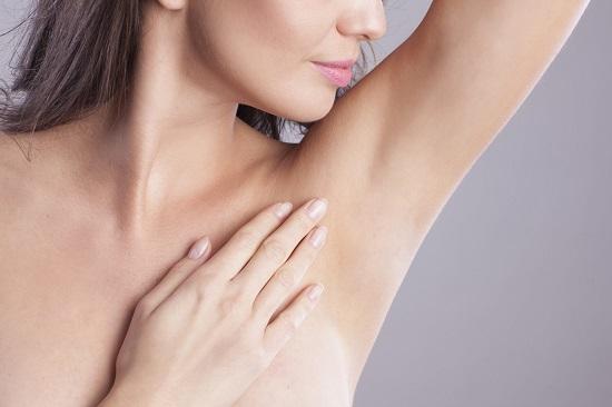 Lightening the armpits