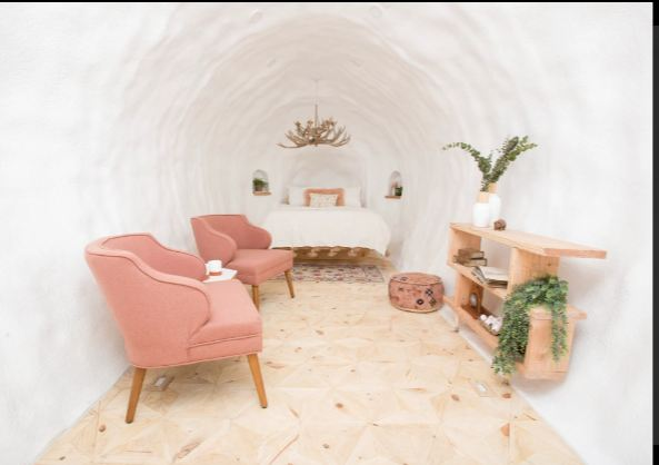 The room is inside the Potato Hotel.