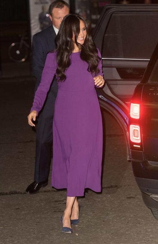 Megan in a purple dress