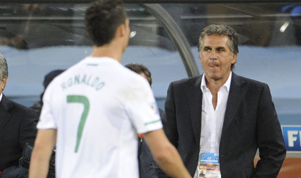Queiroz with Ronaldo