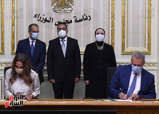 رئيس الوزراء يشهد بروتوكول تعاون لدعم مشروعات الميكنة والتحول الرقمى بهيئة الدواء (7)