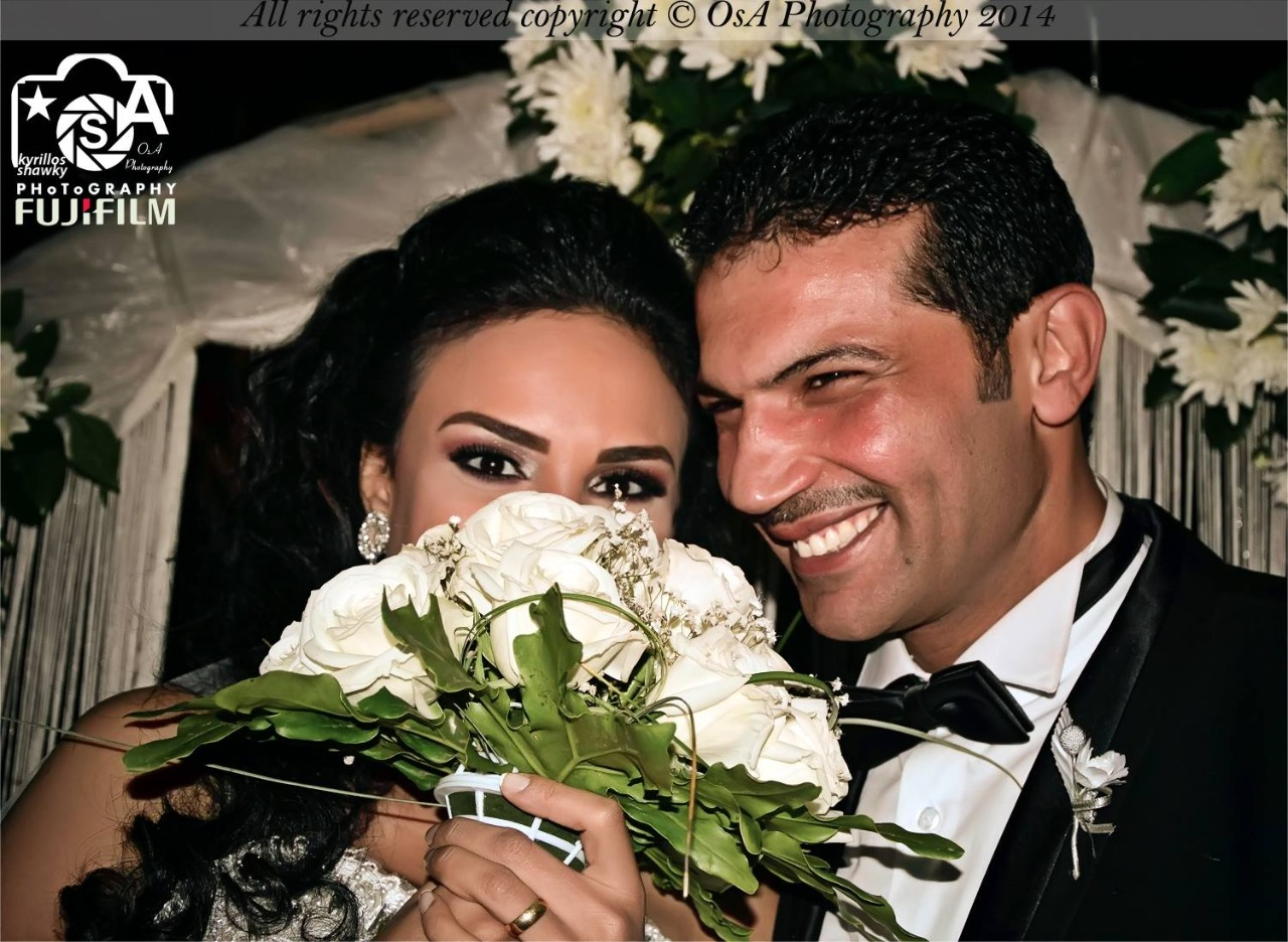 Yvonne Nabil and her husband in the wedding solution