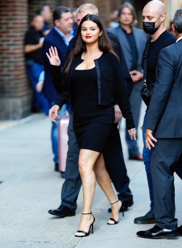 Selena Gomez in a short black dress