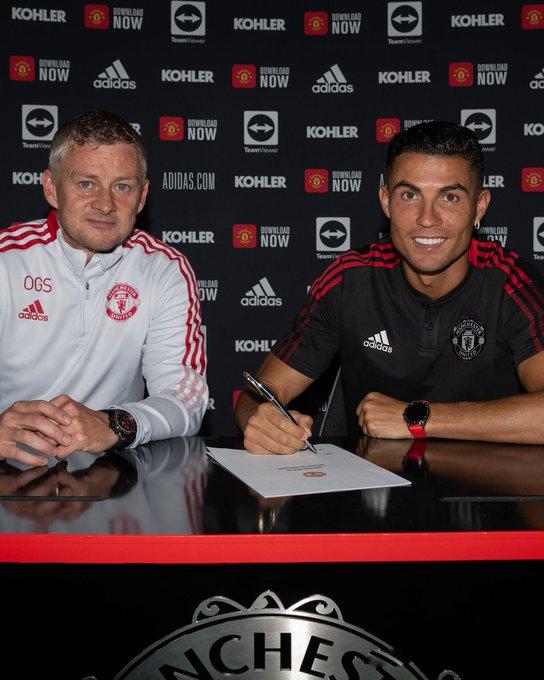 Ronaldo with Solskjaer (1)