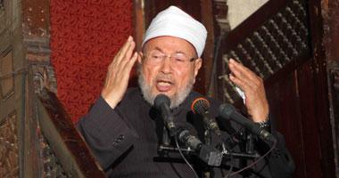 يوسف القرضاوى رئيس الاتحاد العالمى لعلماء المسلمين