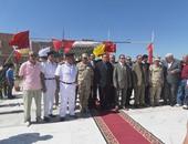 سكرتير المحافظة ومدير الأمن خلال احتفالات أكتوبر