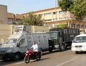 قوات الأمن أمام جامعة عين شمس