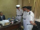 جانب من زيارة مدير أمن القاهرة لوحدة مرور القطامية