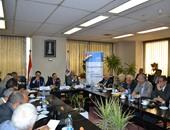 جانب من لقاء الدكتور محمد عمران رئيس البورصة مع جمعية رجال الأعمال