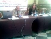 الدكتور منى الجرف والدكتور مصطفى كامل خلال المؤتمر