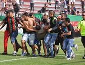 شغب المغرب فى مباراة الجيش الملكى والدفاع الحسنى الحديدى