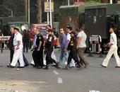 رجال الأمن فى ميدان النهضة