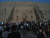 بدء التوافد على معبد أبو سمبل