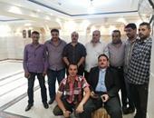 أعضاء الناديين بعد الاجتماع