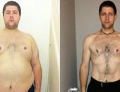 الشاب قبل وبعد خسارة الوزن