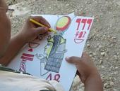 أحد الأطفال يشاركون يبدعون داخل المهرجان