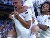 احتفال لاعبى ريال مدريد الأسبانى بالفوز على برشلونة