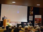 وزير الثقافة يلقي كلمته بقاعة المؤتمرات بالأكاديمية