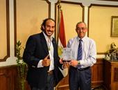 حسام كمال وزير الطيران المدنى وحجاجوفيتش